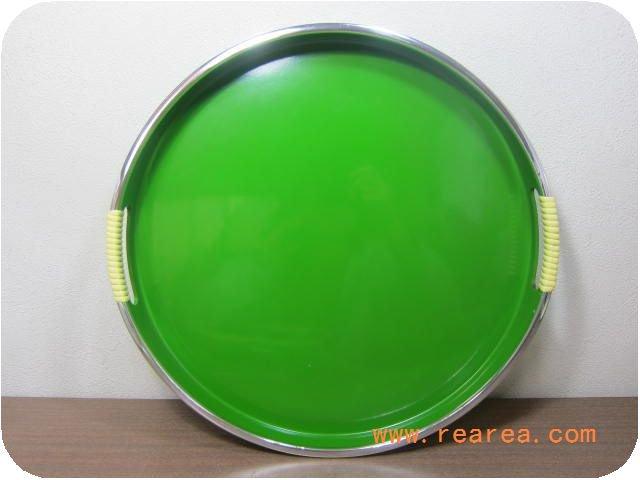 丸型 プラスチック製トレー 大 35センチ(トレイお盆*昭和レトロ