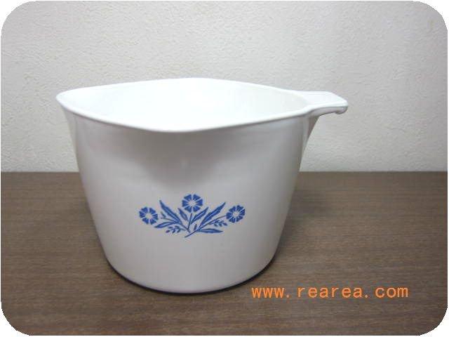 完売■USA製パイロセラム P-55-B耐熱ガラス鍋1.0L (コーニングウェア*昭和レトロ雑貨