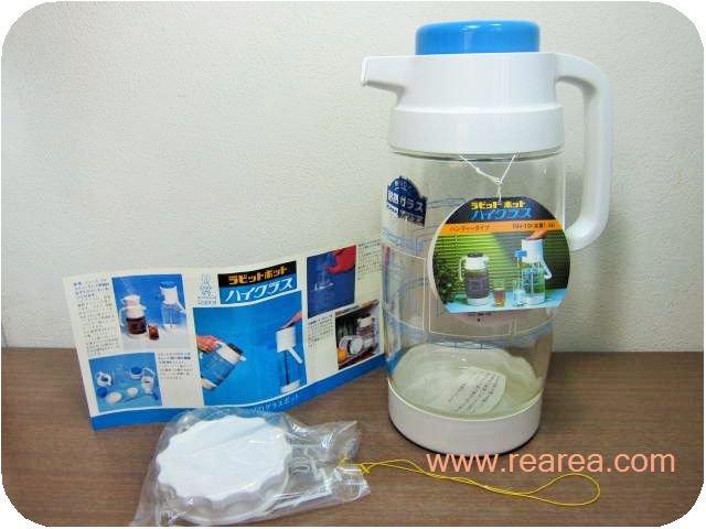 ラビットポット 耐熱ガラス1.9L 幾何学模様 RH-19(サーバー*昭和レトロ雑貨
