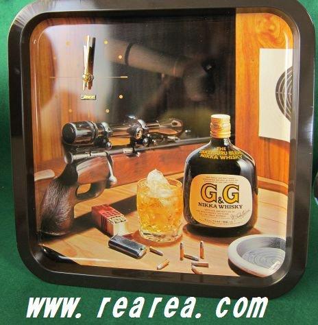 完売■ 希少 70年代 店舗用 ニッカ ウィスキー  置時計 電池式 昭和レトロ