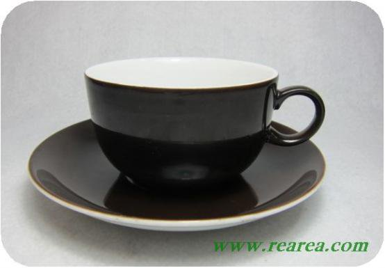 ドイツ製 アルツベルク Arzberg ブラウン カップ&ソーサー (70年茶〓昭和レトロ