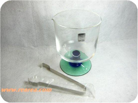 ピエールカルダン 綺麗なガラス製アイスペール ササキグラス ブルー(クリスタル*昭和レトロ雑貨食器