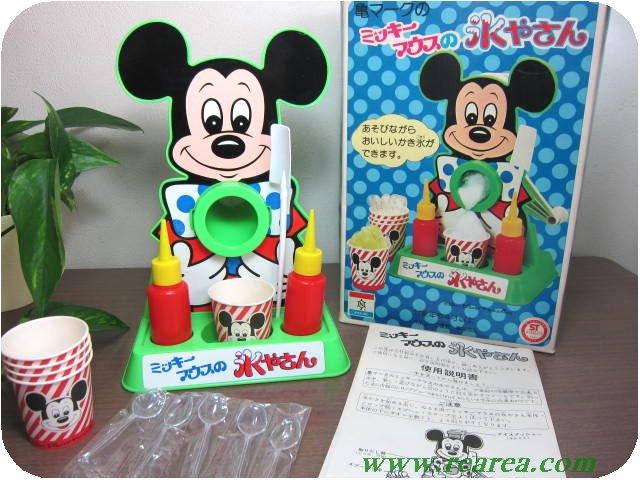 ミッキーマウスの氷やさん       (亀マークかき氷機カキ氷〓昭和レトロキッチン雑貨