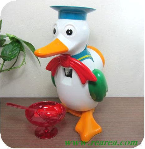 アサヒ玩具 氷かき かもめちゃん (かき氷機カキ氷カモメ〓昭和レトロキッチン雑貨