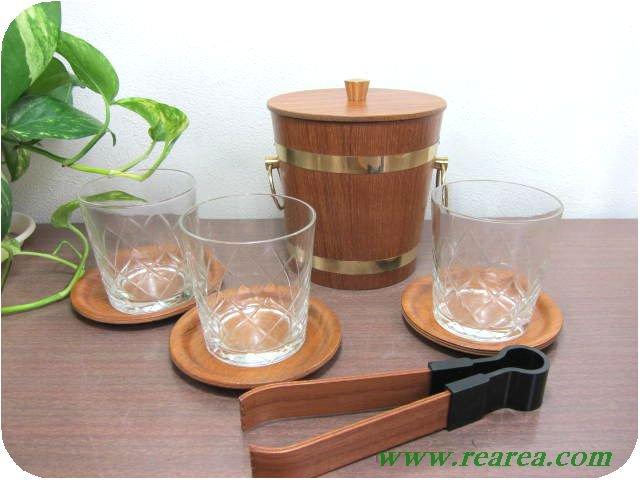 サイトーウッド アイスペール&グラス&トレー&コースターセット (SAITOWOOD〓昭和レトロキッ…