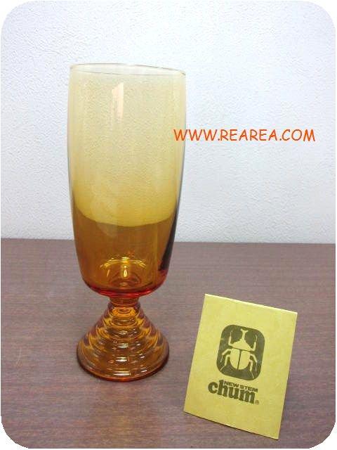 SOGA GLASS  チャムchum  ゾンビー16.3cm 脚付グラス(タンブラー曽我ガラス*昭和レトロ雑貨