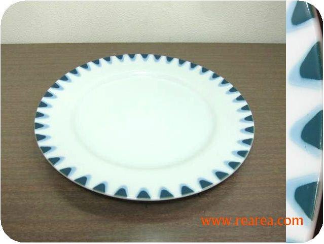 レトロ陶器 プレート 23㎝  u   (陶器中皿*昭和レトロ雑貨