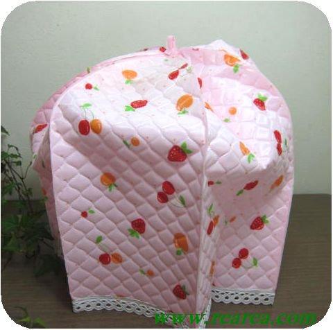 完売■キクロン 炊飯器カバー フルーツ柄 ピンク(リンゴイチゴ柄〓デザイン昭和レトロ雑貨家具キッチン