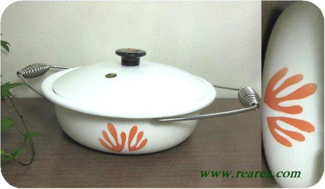 大阪デザインハウス ena ware ホーロー両手鍋 1.5L (エナ琺瑯鍋〓昭和レトロ雑貨