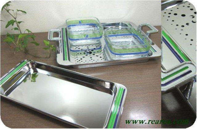 サンライズカラー  トレー&小鉢セット 4点  (トレイ〓昭和レトロ雑貨キッチン