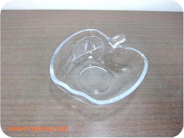 曽我ガラスアップル ボール小12㎝ クリア(林檎りんご中鉢*昭和レトロ雑貨