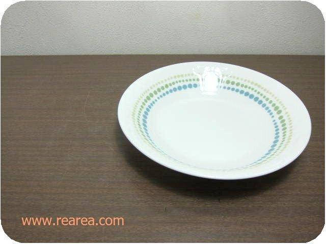 セール30%OFF レトロドット柄 陶器ボウル19.5センチ (水玉 中鉢中皿ボール*昭和レトロ食器