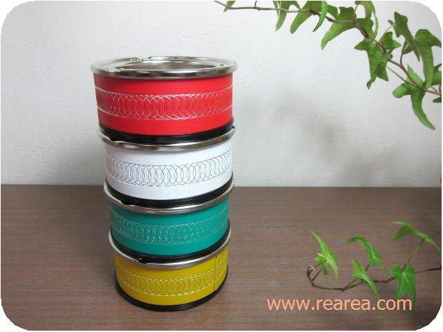 セール30%OFF レトロな4カラー灰皿セット 径10.5センチ  (卓上煙草タバコ*昭和レトロ雑貨