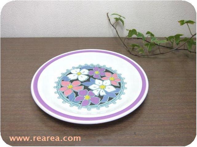 セール30%OFF NIKKO 花柄 陶器プレート 18.7センチ (ストーンウェア中皿*昭和レトロ食器
