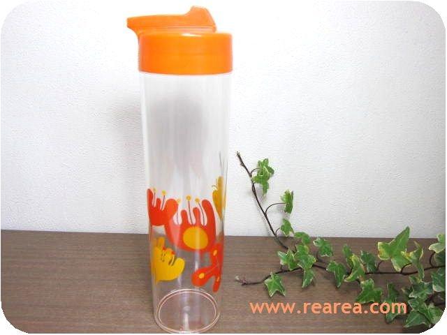 フリーザーポット 可愛い花柄ちょうちょう約0.8L サーバー(プラスチック保存容器*昭和レトロ雑貨