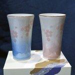 九谷焼 ペアフリーカップ 銀彩さくら