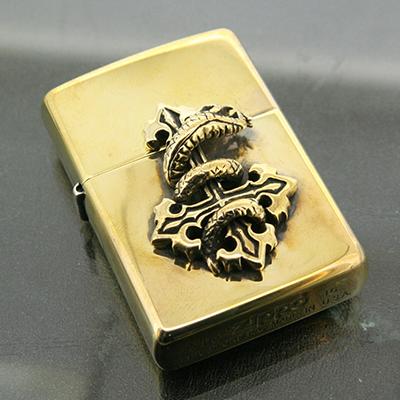 真鍮×真鍮シェヴァン ナージャジッポ(クラスプなし)