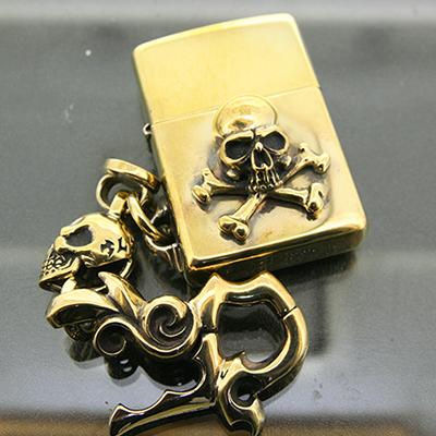 真鍮×真鍮ゴルゴレッドボーンズ(クラスプあり)