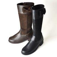 【NEW ARRIVAL】リボンロングブーツ(2621201A)/19cm-21cm