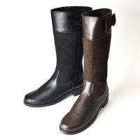 【NEW ARRIVAL】リボンロングブーツ(2621201B)/22cm-24cm