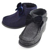 【NEW ARRIVAL】リボンモカショートブーツ(2921202)/16-22cm