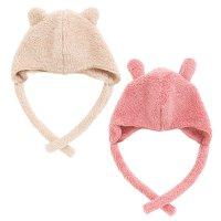 mokomokoボア 耳付きベビー帽子(Y-9301)