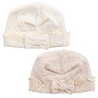 オーガニックカットソー ベビーリボン帽子(Y-1326)