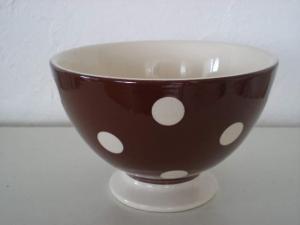 france    カフェオレボウル(ブラウン水玉)