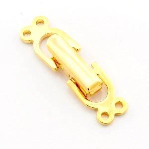 二つ折留金具 ゴールド (2連用)  ブレスレット金具