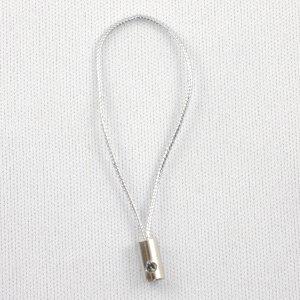携帯ストラップ用金具 シルバー・ソフトコード