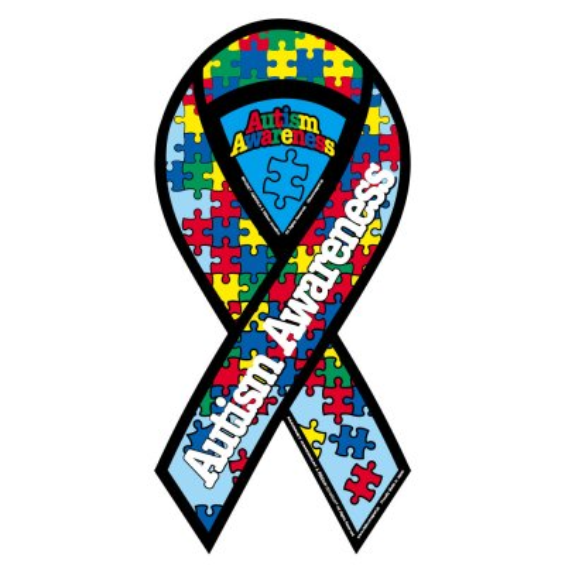自閉症スペクトラム支援リボンマグネット Lサイズ