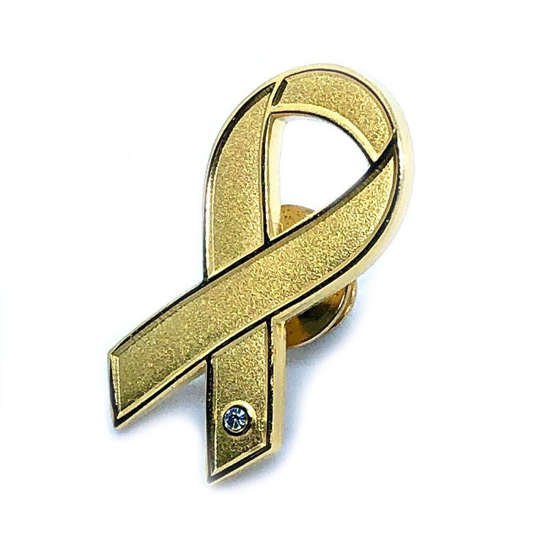 【リボンピンバッジ・医療支援】ゴールドリボン 小児がん患者とその家族への理解と支援