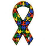 【リボンピンバッジ・医療支援】パズル 自閉症スペクトラムをお持ちの方への理解と支援のモデル