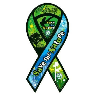自然環境復元協会支援リボンマグネット