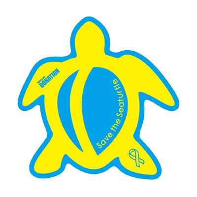 ホヌ型リボンマグネット(L-size) ブルー / イエロー