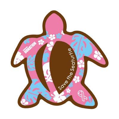 ホヌ型リボンマグネット  パターン(L-size) ブラウン / ピンク
