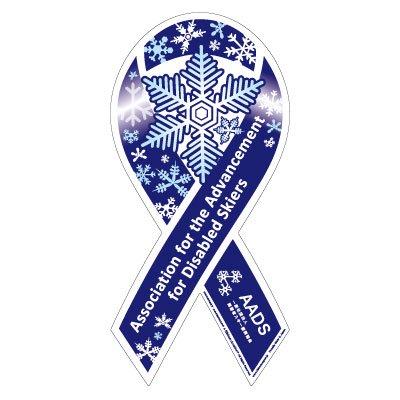 スノーリボンマグネット 障害者スキーヤーの支援