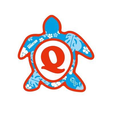 ホヌ型リボンマグネット(S-size) アルファベットモデル Q