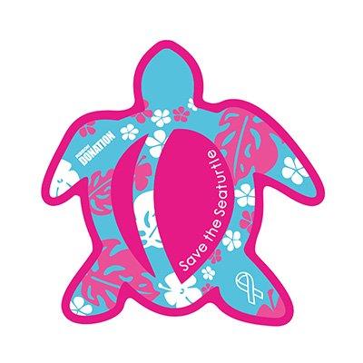 ホヌ型リボンマグネット  パターン(L-size) ピンク/スカイ