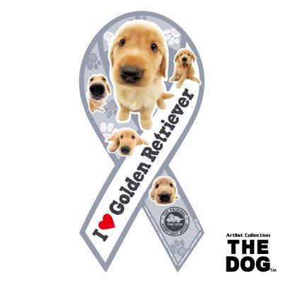 リボンマグネット THE DOG(ザ・ドッグ)ゴールデン・レトリーバー