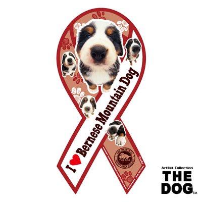 リボンマグネット THE DOG(ザ・ドッグ)バーニーズ・マウンテンドッグ