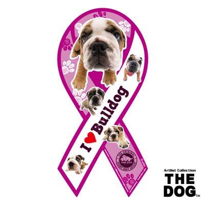 リボンマグネット THE DOG(ザ・ドッグ)ブルドッグ