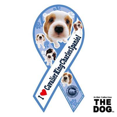 リボンマグネット THE DOG(ザ・ドッグ)キャバリア・キング・チャールズ・スパニエル