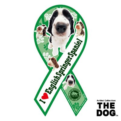 リボンマグネット THE DOG(ザ・ドッグ)イングリッシュ・スプリンガー・スパニエル