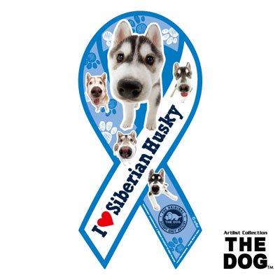 リボンマグネット THE DOG(ザ・ドッグ)シベリアンハスキー