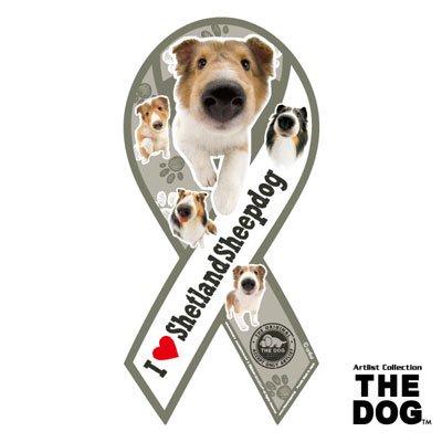リボンマグネット THE DOG(ザ・ドッグ)シェットランドシープドッグ