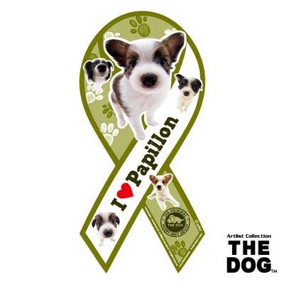 リボンマグネット THE DOG(ザ・ドッグ)パピヨン