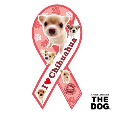 リボンマグネット THE DOG(ザ・ドッグ)チワワ クリーム