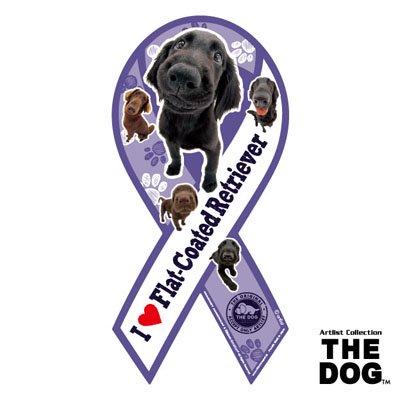 リボンマグネット THE DOG(ザ・ドッグ)フラットコーテッド