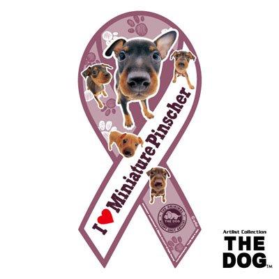リボンマグネット THE DOG(ザ・ドッグ)ミニチュア・ピンシャー